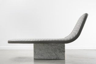 Grégoire de Lafforest Leather & Marble Lounge Chair