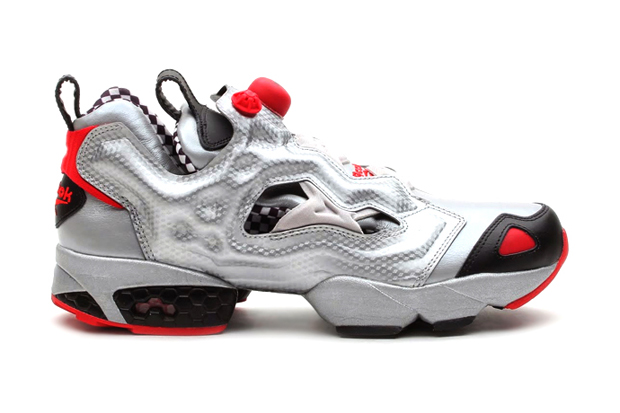 reebok pump fury silverblackred