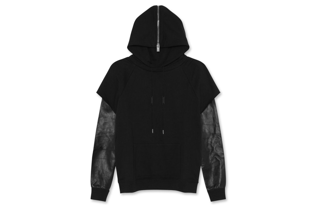 Saint Laurent Leather Sleeve Parka