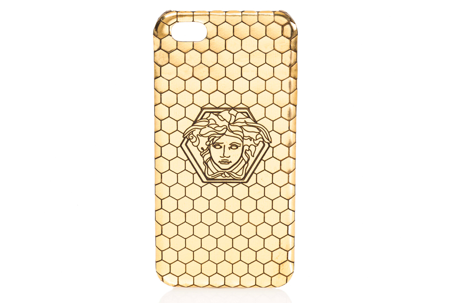 Versace x Haas Brothers Gold iPhone Case