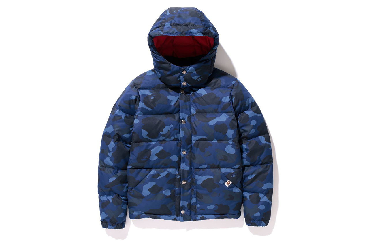 a bathing ape 2013 fallwinter color camo down jacket