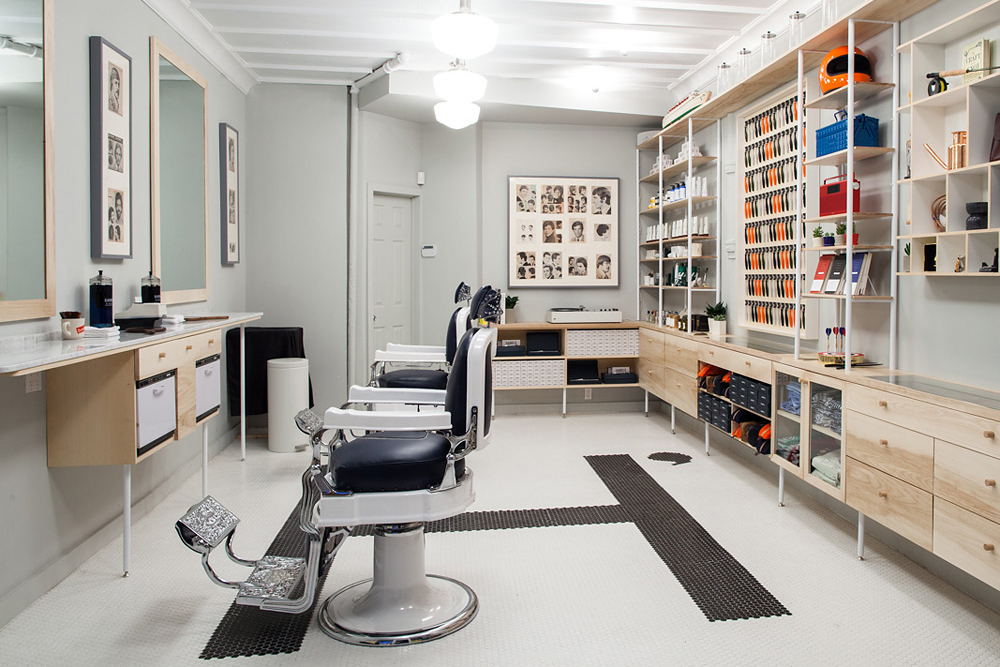 a look inside harrys the corner shop barbershop in new york city