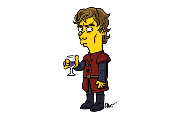 Breaking Bad and Game of Thrones Characters Redrawn as Simpsons by Adrien Noterdaem