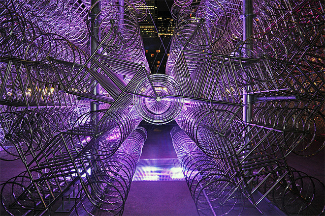 """Ai Weiwei """"Forever Bicycles"""" Installation"""