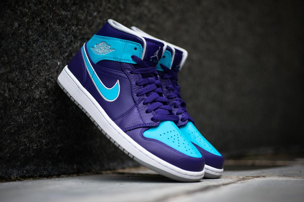 Air Jordan 1 Mid Purple/Gamma Blue