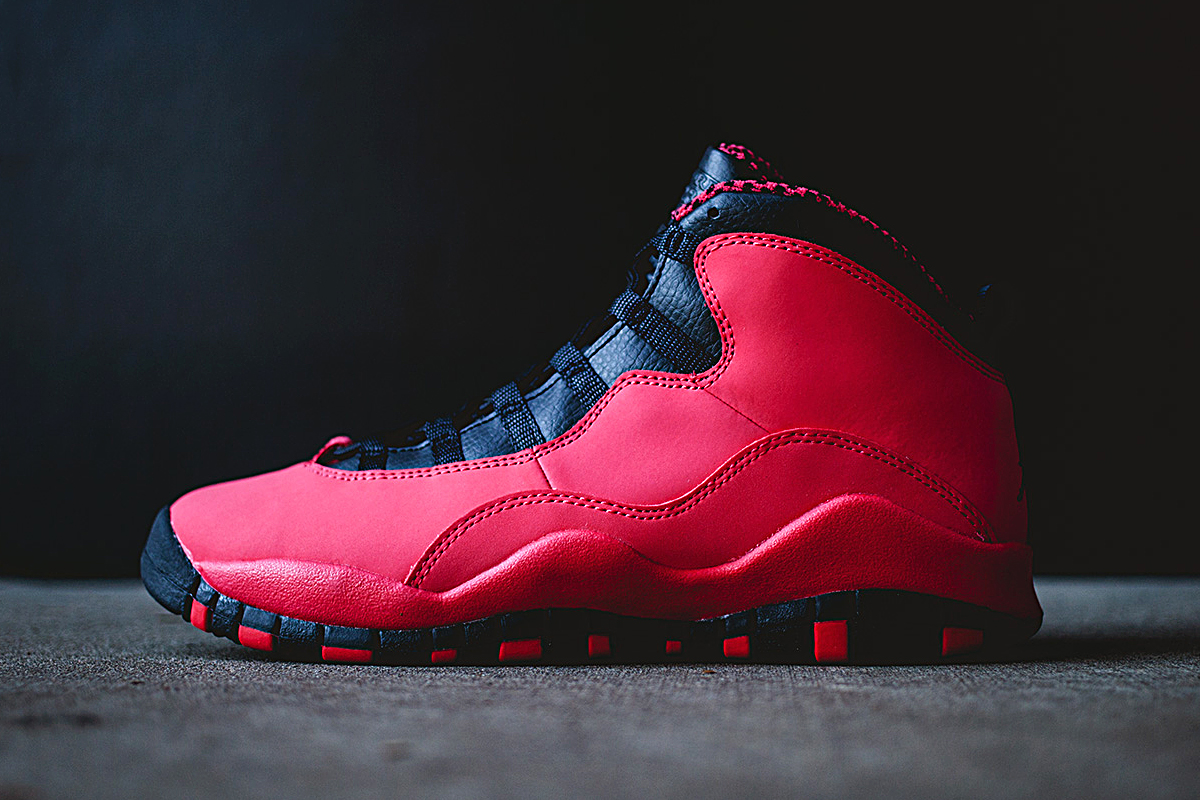 air jordan 10 retro gs fusion redblack