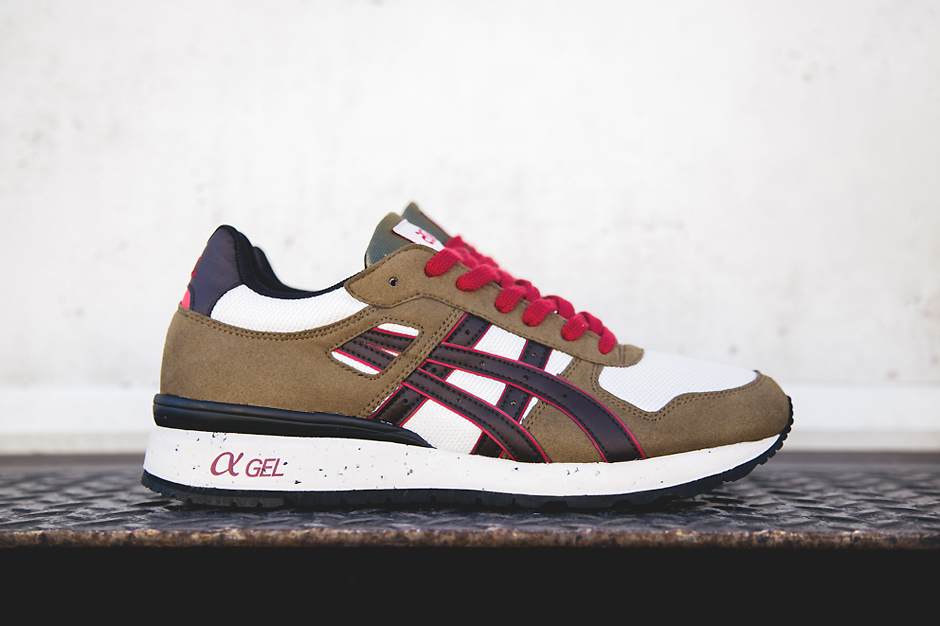 ASICS GT-II Olive/Brown/Red