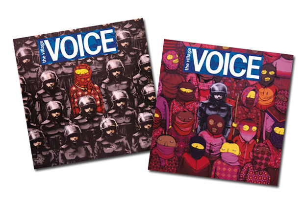 Banksy and Os Gemeos Take Over Cover of Village Voice
