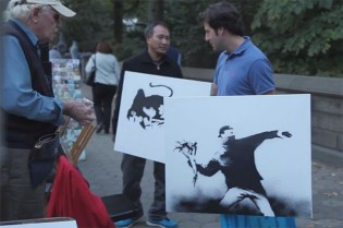 Watch Banksy Sell Art Outside of Central Park for $60 USD