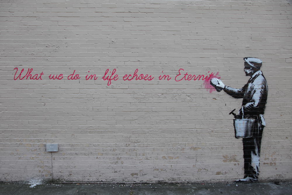 """Banksy Channels 'Gladiator' for """"Better Out Than In"""""""
