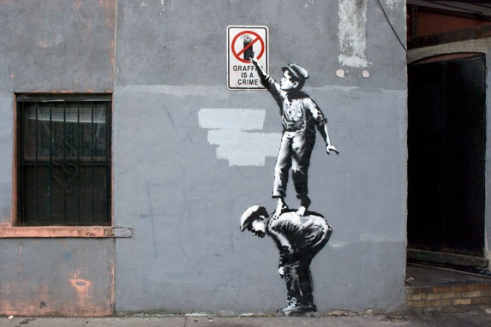 Banksy 'The Street Is In Play' Street Art in New York's Chinatown