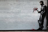 """Banksy Hits Hell's Kitchen's Hustler Club for """"Better Out Than In"""""""
