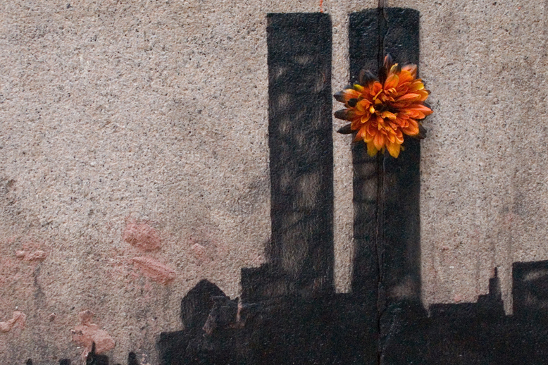 Banksy Pays Homage to the Twin Towers in Tribeca