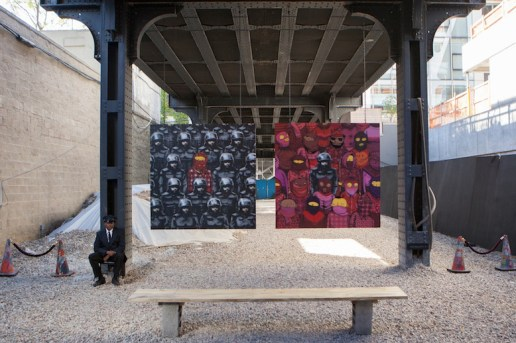 """Banksy Teams Up with Os Gemeos for """"Better Out Than In"""""""