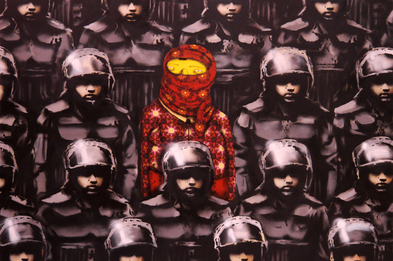 banksy teams up with os gemeos for better out than in