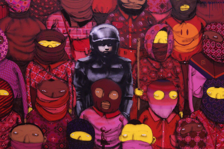 "Banksy Teams Up with Os Gemeos for ""Better Out Than In"""