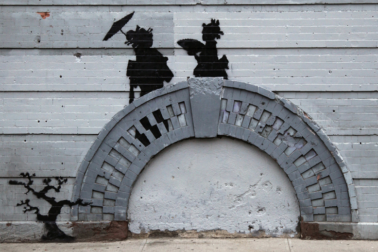 """Banksy's """"Better Out Than In"""" Hits Bed Stuy"""