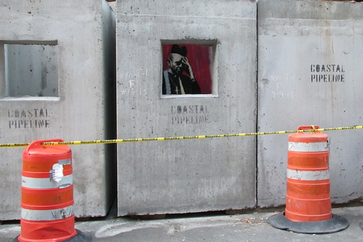 "Banksy's 'Concrete Confessional' for ""Better Out Than In"""