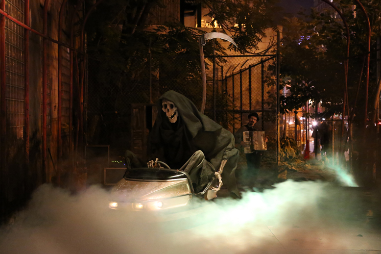 """Banksy's Grim Reaper for """"Better Out Than In"""""""