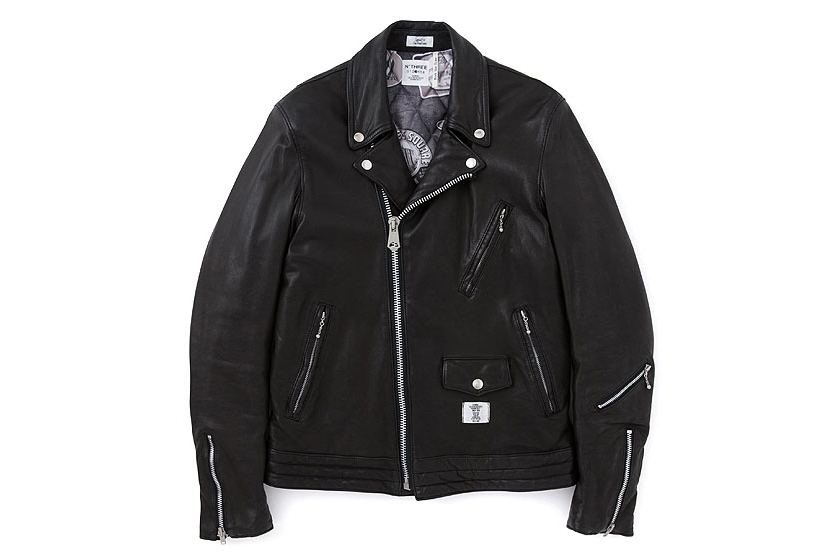 """BEDWIN & THE HEARTBREAKERS 2013 Fall/Winter """"BLACK BUSHER"""" Biker Jacket"""
