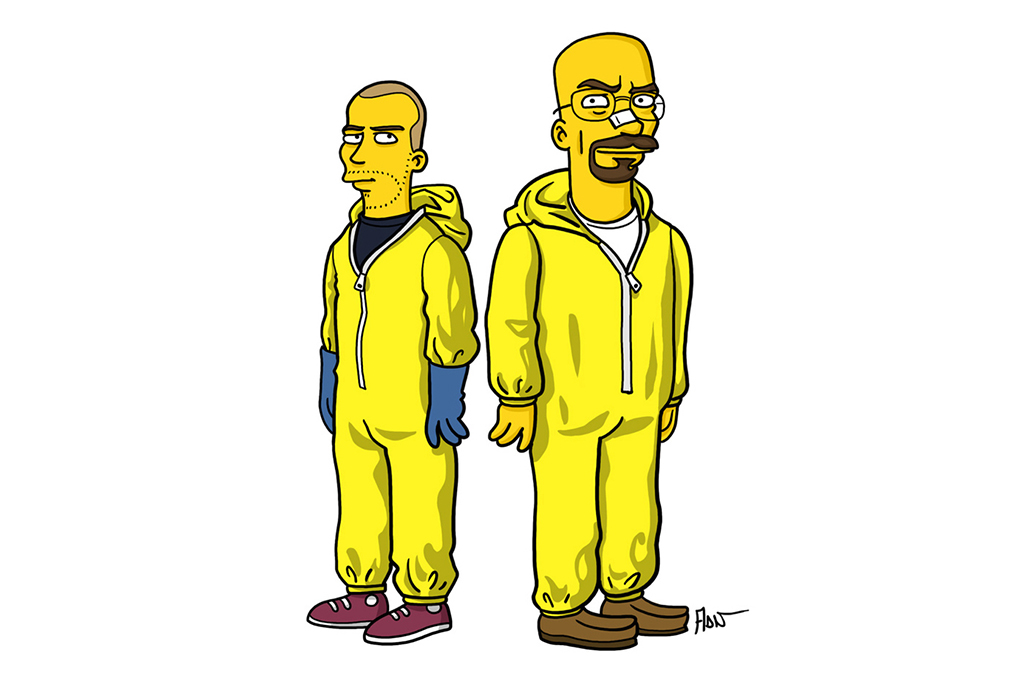 Adrien Noterdaem Gives Breaking Bad Characters The Simpsons Treatment