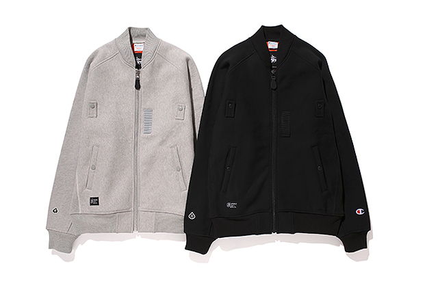 champion x stussy x gore windstopper ma 1 jacket