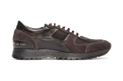 Common Projects Dark Purple Suede & Leather Mountain Tracks
