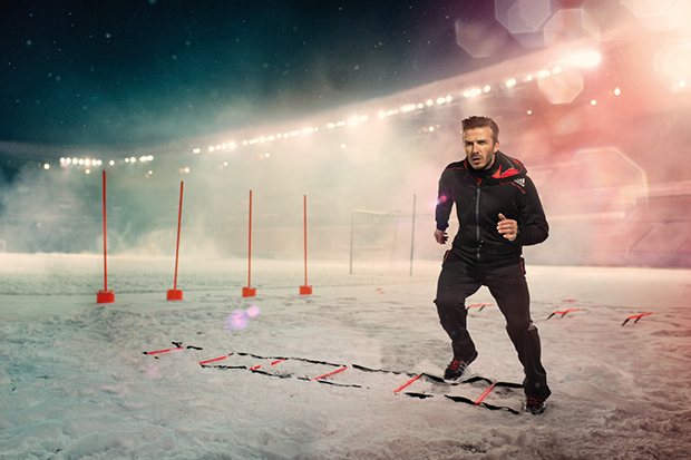 David Beckham Helps Launch adidas ClimaWARM+ for Cold Weather Training