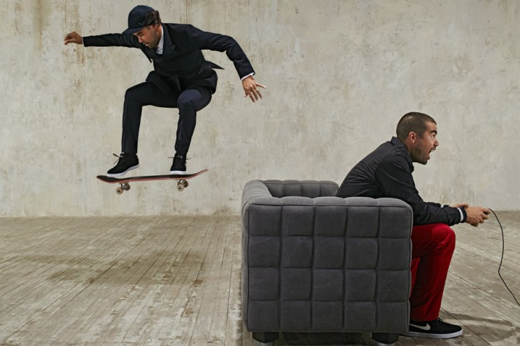 Eric Koston Backstage at Esquire Russia Photo Shoot