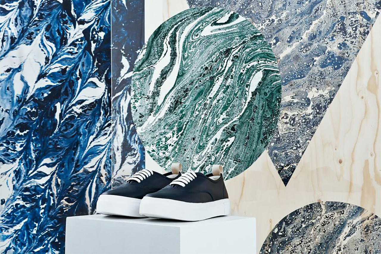 "Eytys ""Marbling and Modernism"" Installation @ Dover Street Market London"