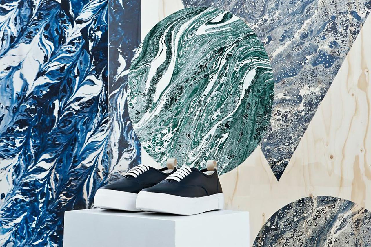 "Eytys ""Marbling and Modernism"" Installation @ Dover Street Market London"