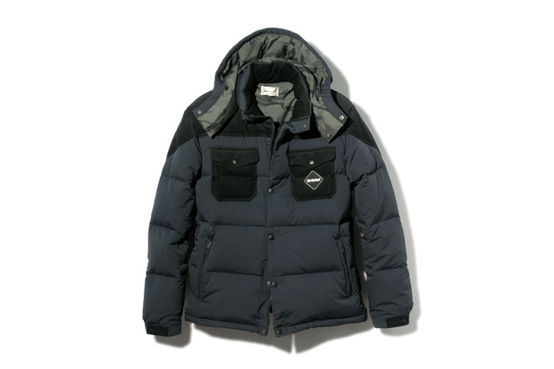 F.C.R.B. 2013 Fall/Winter Fabric Mix Down Jacket
