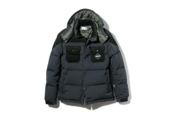 F.C.R.B. 2013 Fall/Winter Fabric Mix Down Jacket