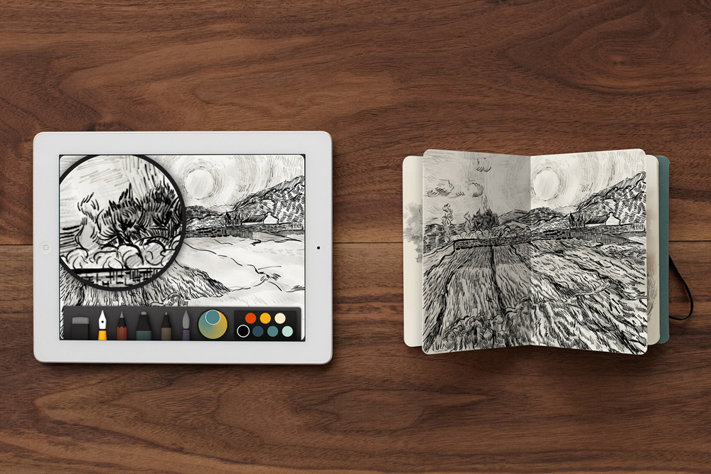 fiftythree x moleskine brings your ipads paper creations to life