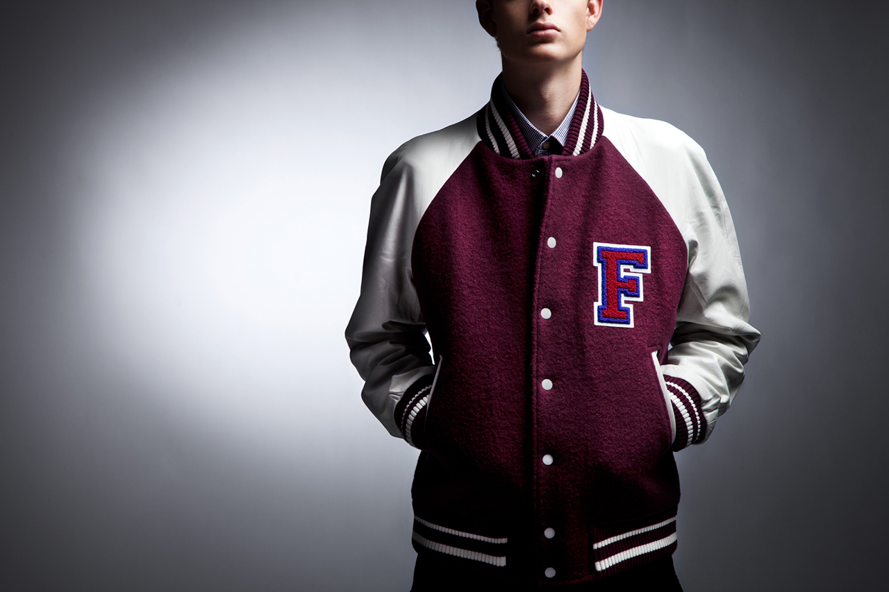 fred perry x raf simons 2013 fall winter varsity jacket. Black Bedroom Furniture Sets. Home Design Ideas