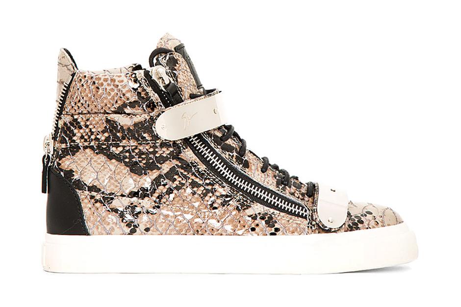 Giuseppe Zanotti Leather Python Atlantide High-Top Sneakers