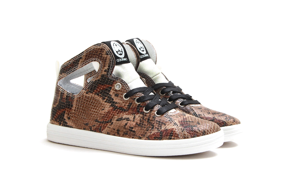 Gourmet Women's Uno Snake Print Brown/White