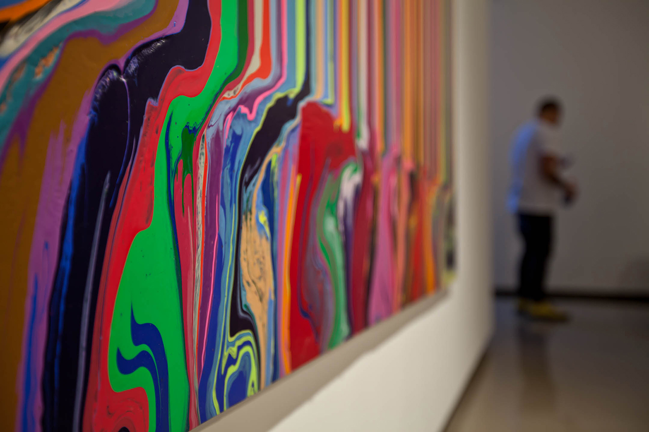 "Ian Davenport ""Colorfall"" Exhibition @ Paul Kasmin"