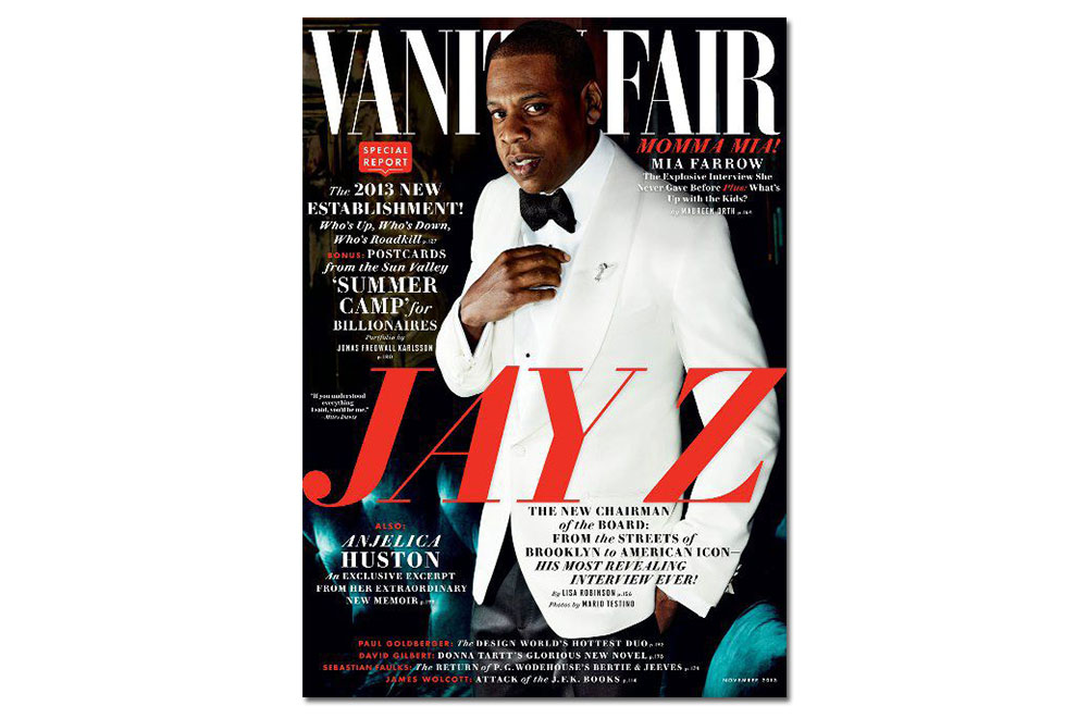 Jay Z Covers Vanity Fair's 2013 November Issue