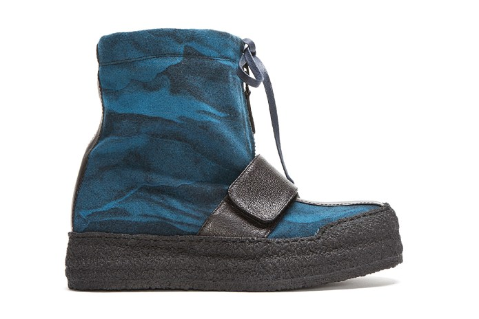 Kenzo Blue Wool Night Cloud Boots