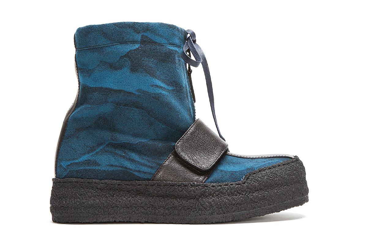 kenzo blue wool night cloud boots