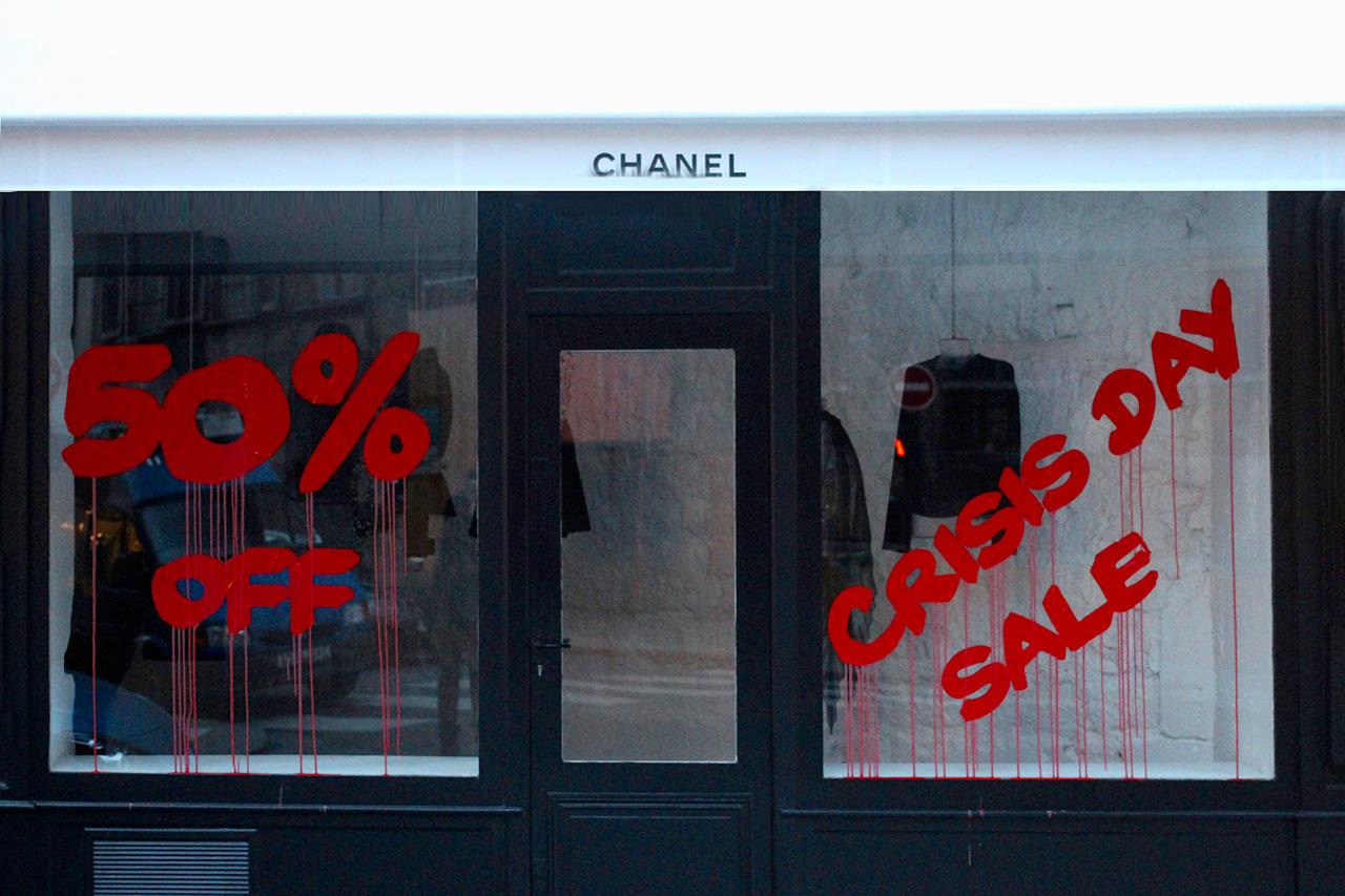 Kidult Vandalizes Chanel Paris