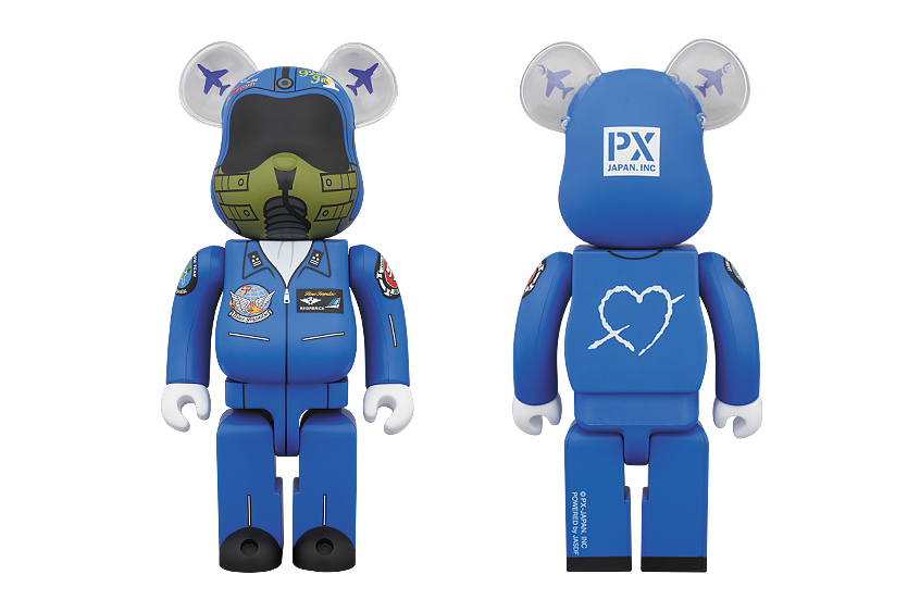 medicom toy 400 blue impulse bearbrick