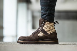 Moncler W Suede and Printed Hiking Boots