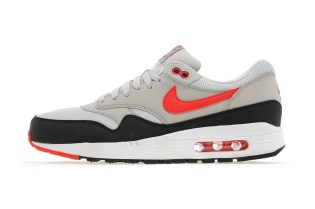 Nike Air Max 1 Light Bone/Black-Cherry Red JD Sports Exclusive