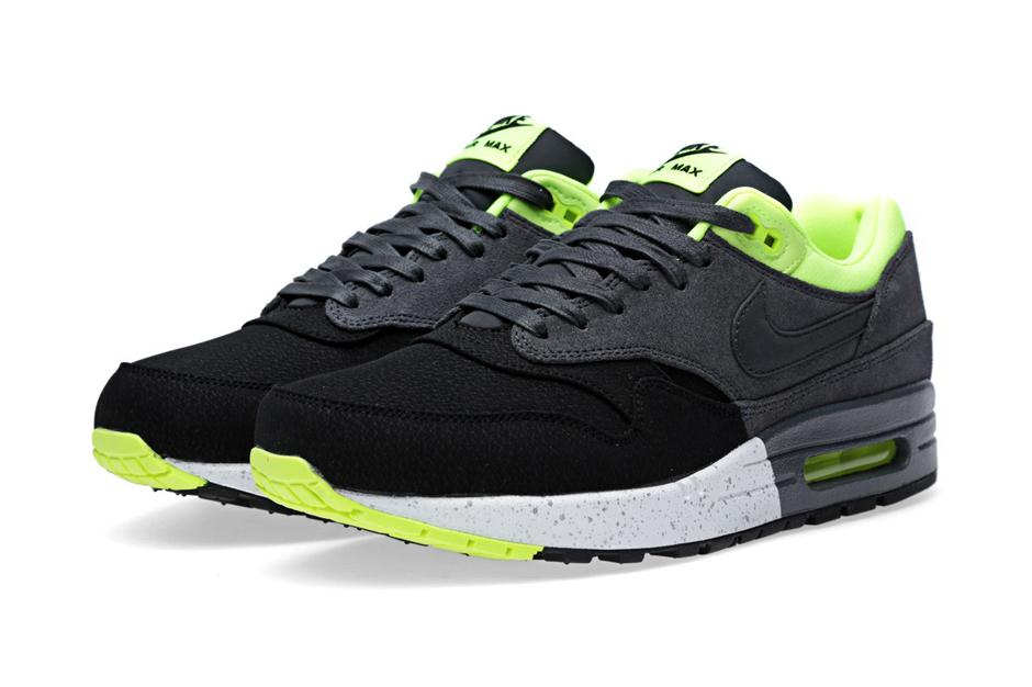 Nike Air Max 1 PRM Black/Anthracite-Volt