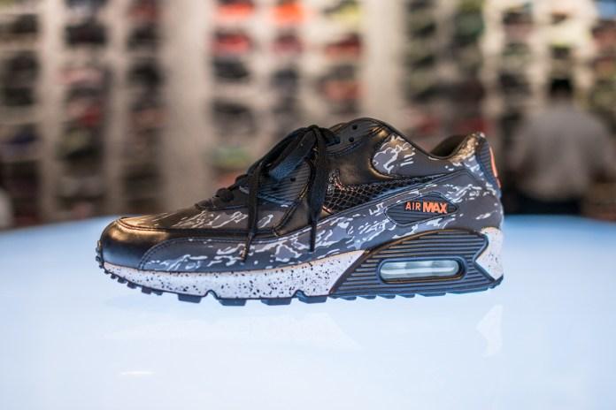"Nike Air Max 90 atmos Exclusive ""Black Tiger Camo"""
