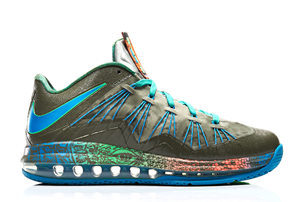nike air max lebron x low swamp thing