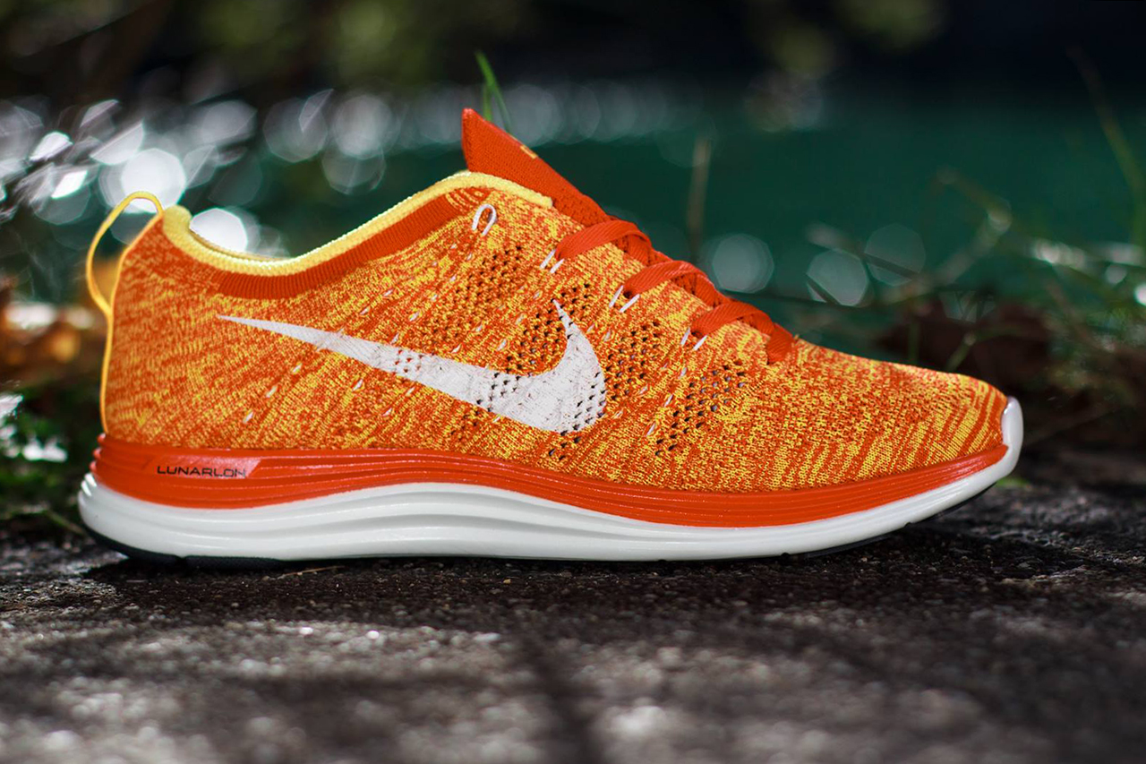 outlet store eba11 088e0 nike flyknit lunar 1 orange