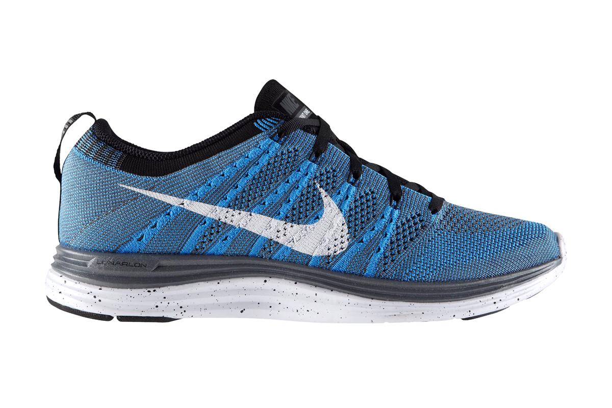 Nike Flyknit Lunar 1+ Blue Glow/White-Black-Dark Grey